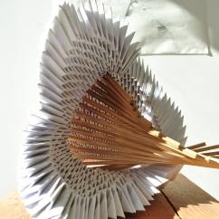 Organismi Geometrici, 70x50x65 cm, recycled paper and eucalyptus wood, Lisbon, 2017.