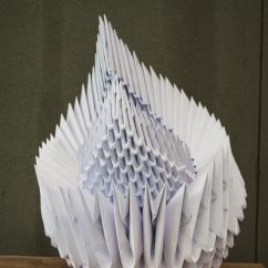 Organismi Geometrici, 60x40x40 cm, recycled paper, Lisbon, 2017.